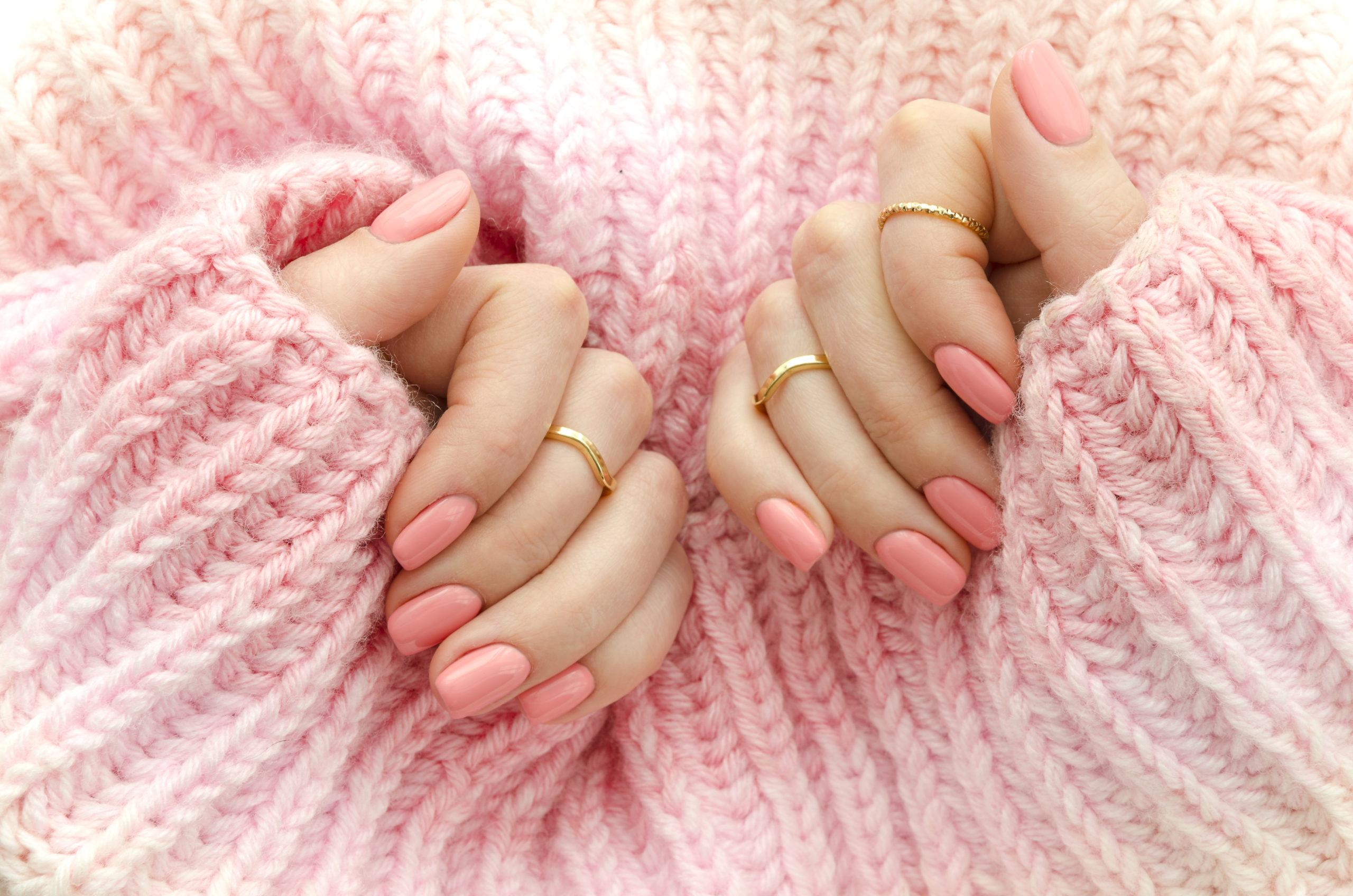 Nail Acrylic pink
